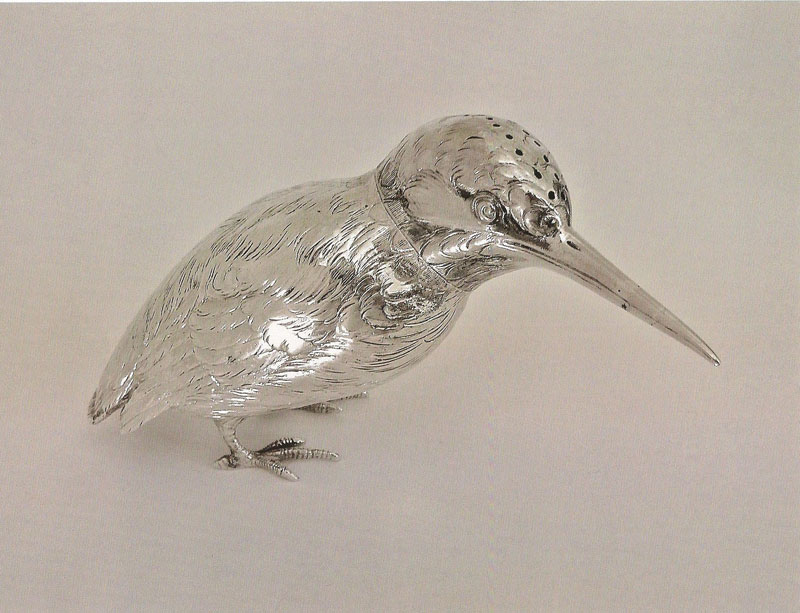 Silver-German-Caster-modelled-as-a-Kingfisher