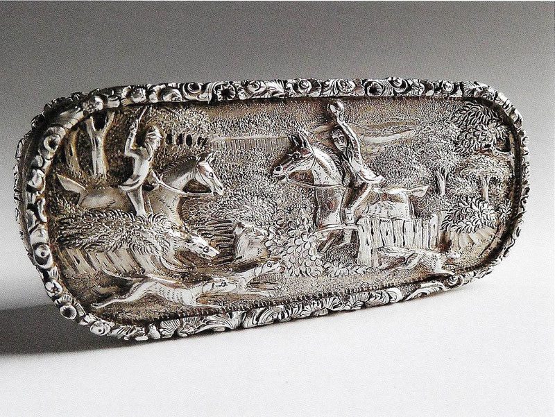 William IV hunting scene Snuff Box by Taylor and Perry Birmingham 1836
