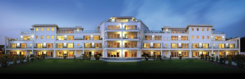 St-Moritz Hotel Exterior at Night Trebetherick Cornwall