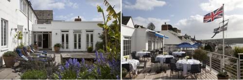 Sunny Terraces at Hotel Tresanton St Mawes Cornwall