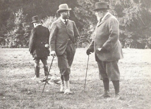 King Edward and the Prince of Wales at Sandringham