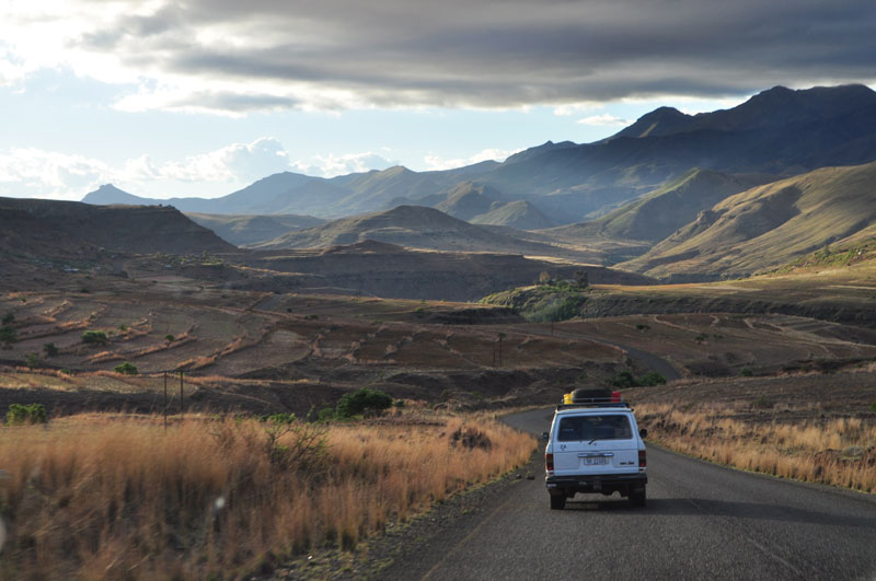 Tarred road in Lesotho
