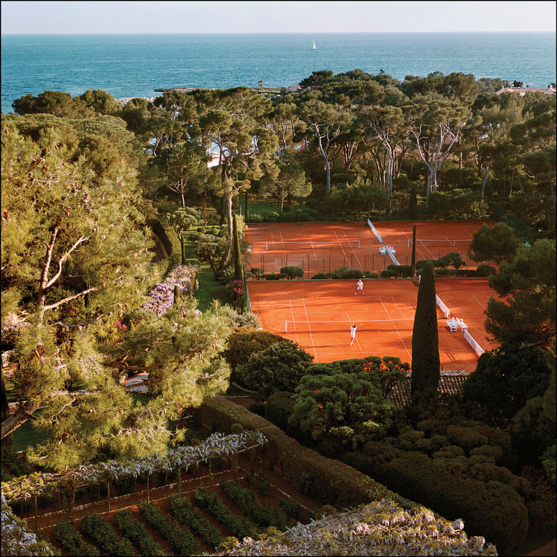 Tennis-Courts-at-Hotel-du-Cap Eden Roc