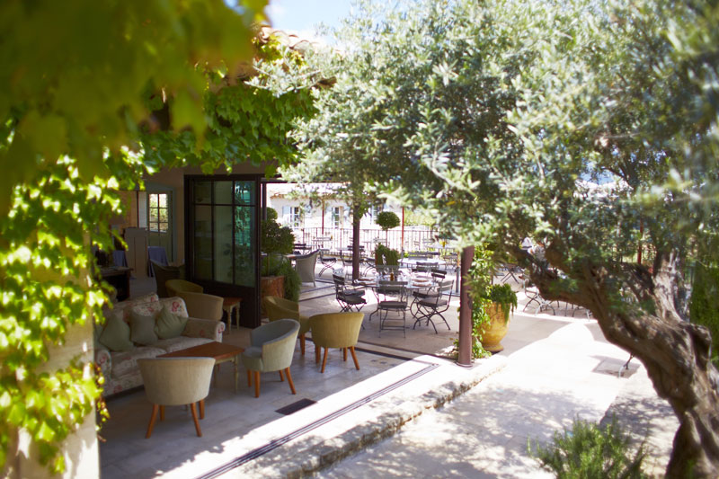 Terrace and restaurant at Crillon le Brave