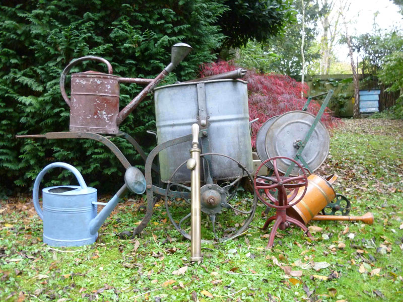 The Alistair Morris collection of copper watering cans