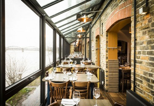 The Depot Conservatory overlooking the River Thames