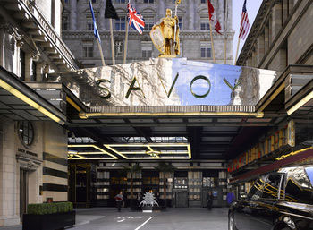 The entrance of The Savoy London