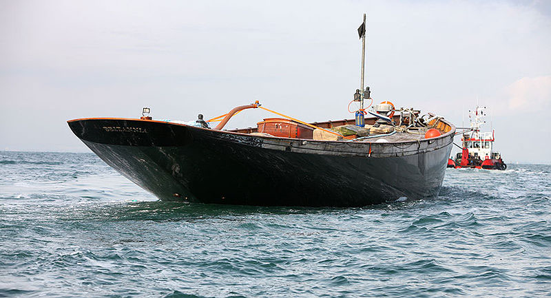 The Hull in tow from Norway