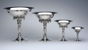 The Silver Fund Georg Jensen Grape Motif Tazzas