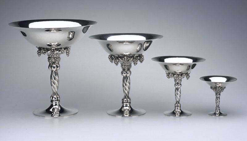 The Silver Fund Georg Jensen Grape Motif Tazzas