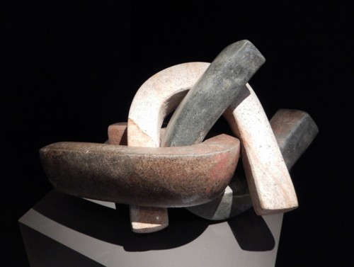 Three Pre-Columbian Olmec Stone Yokes