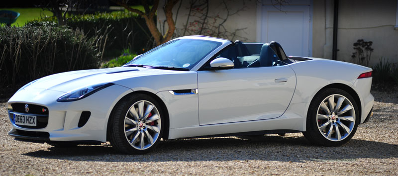 Three-quarter-view-of-F-Type-Jaguar-at-Farm