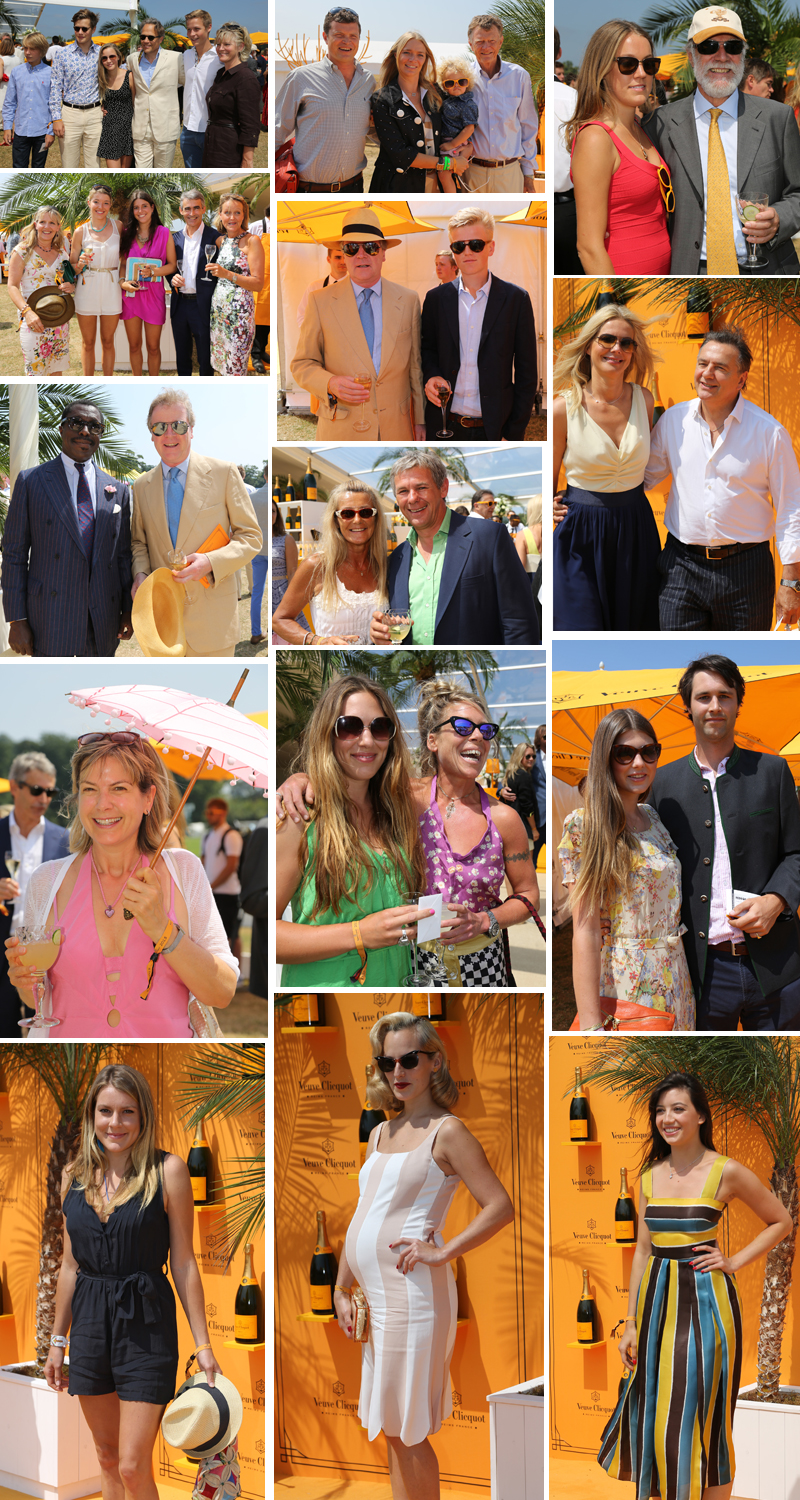VIPs and Celebrities at the Veuve Clicquot Gold Cup Polo Final at Cowdray Park