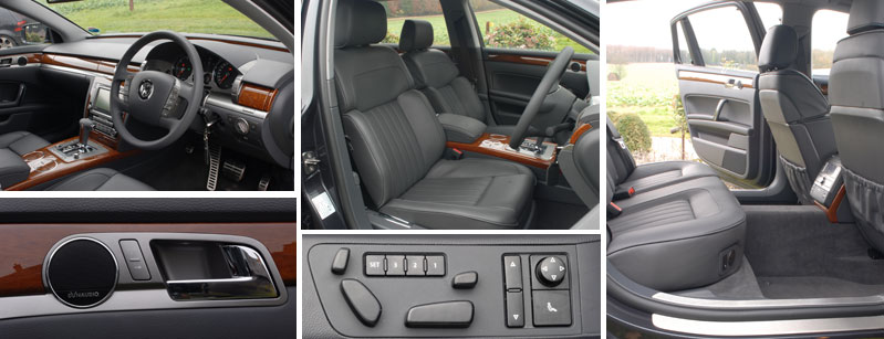 VW Phaeton luxurious interior details