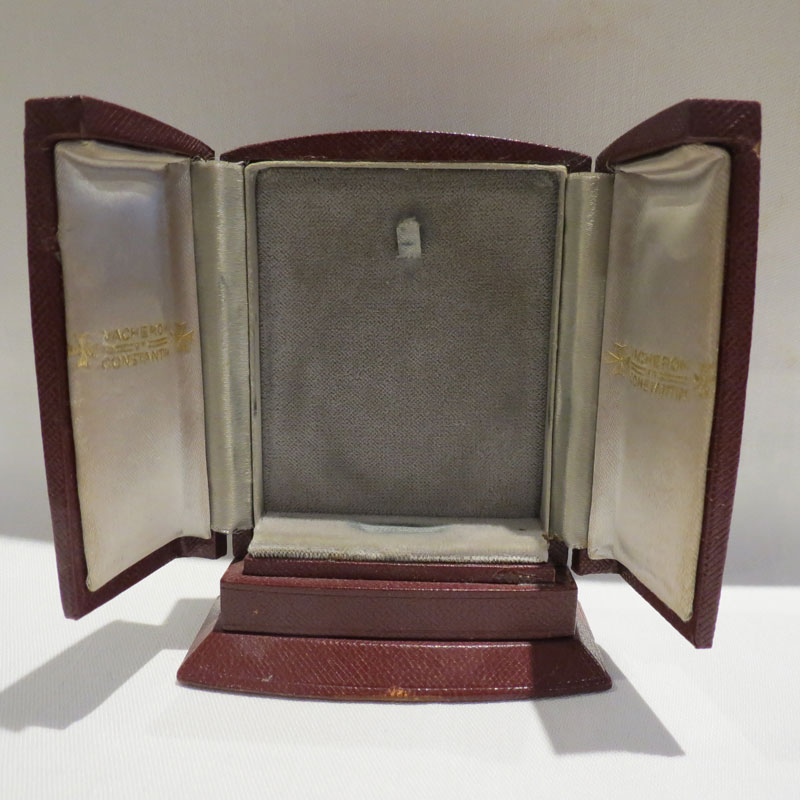 Interior of presentation case for Vacheron and Constantin Ultra Slim Pocket Watch
