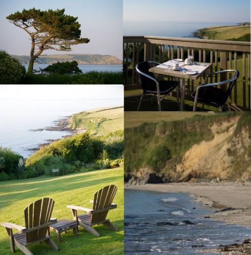 Views from Driftwood Hotel Rosevine Portscatho