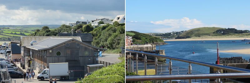 Views from Rick Steins Seafood Restaurant Roof Terrace in Padstow