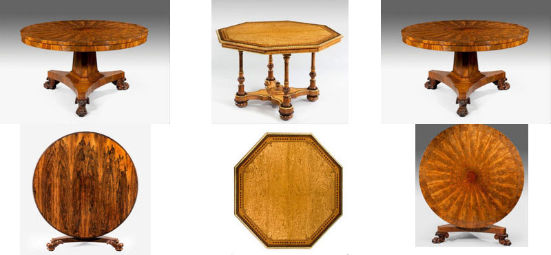 Wick Antiques Decorative Inlaid Occasional Tables