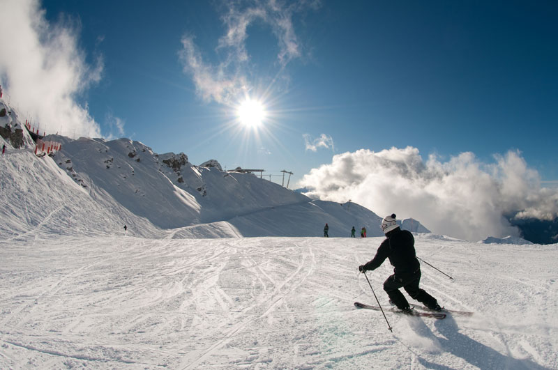 Action Skiing in Verbier