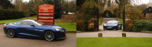 Aston Martin Vanquish arrives at Lainston House