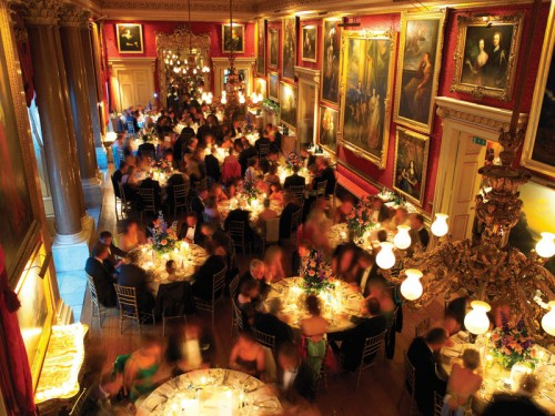 The Ballroom in Goodwood House on New Year's Eve