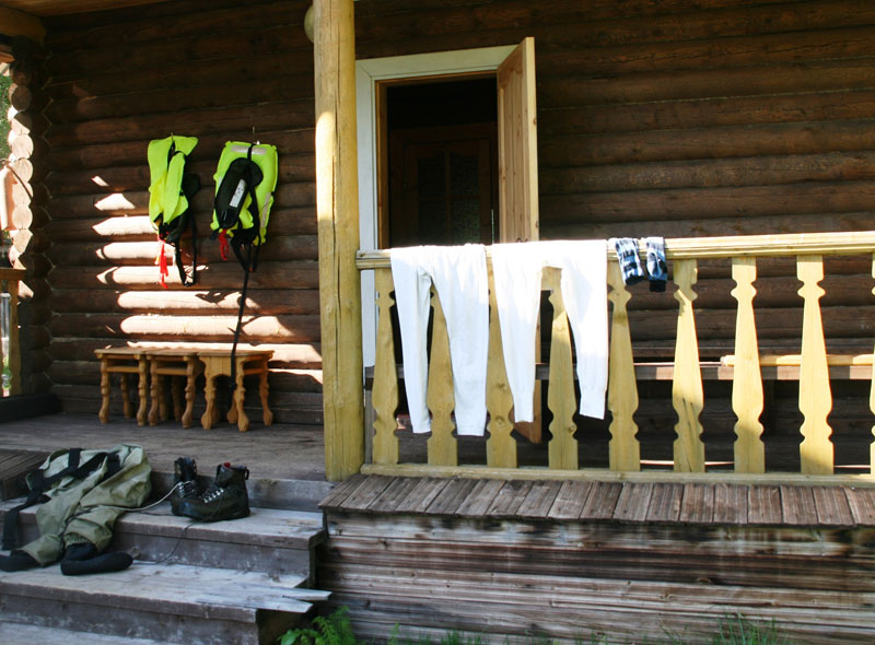 Drying out after a days fishing