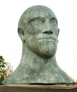 Monumental Bronze Head by Dame Elisabeth Frink