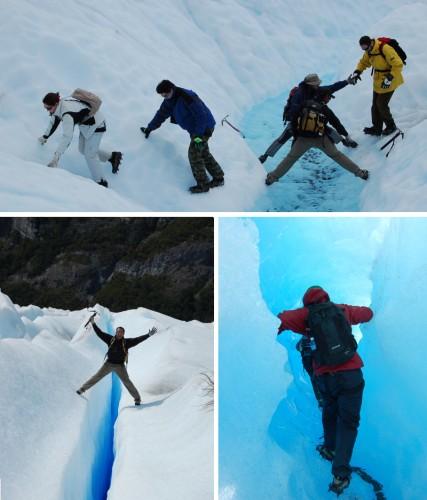 exploring the Perito Moreno Glacier