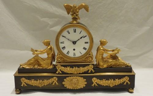 Bronze and Ormolu Timepiece by F. Baetens