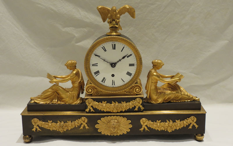 Bronze and Ormolu Timepiece by F. Baetens