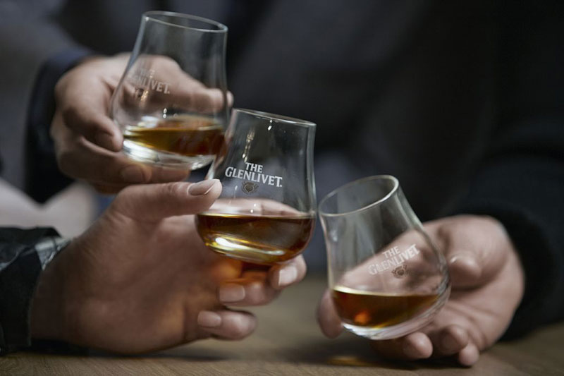 Glasses of Glenlivet