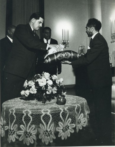 Haille Selassie being presented with Lulette