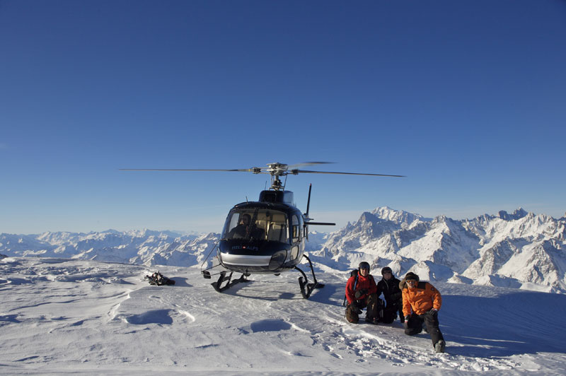 Heli-Skiing at Verbier