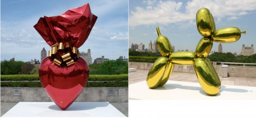 Jeff Koons Wrapped Heart and Balloon Poodle