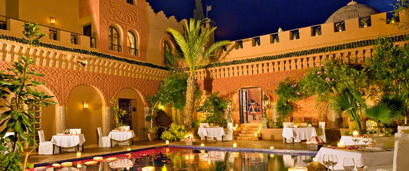 Kasbah Dining Reflecting Pool