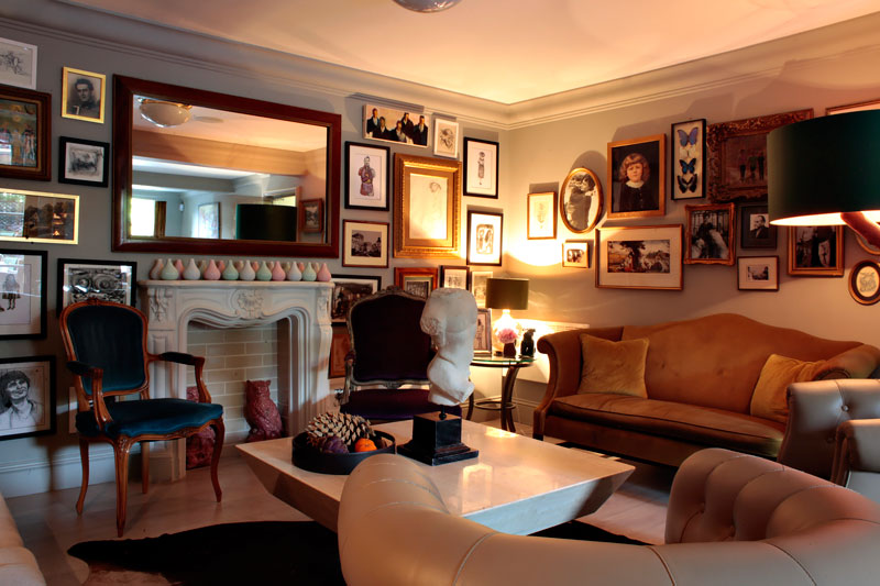 lounge at Villa de Geggiano in Chiswick