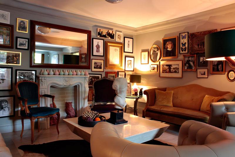 lounge at Villa de Geggiano in Chiswick