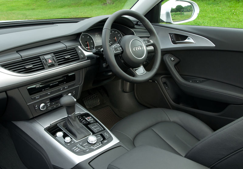 Luxurious interior of Audi A6 Allroad Quattro