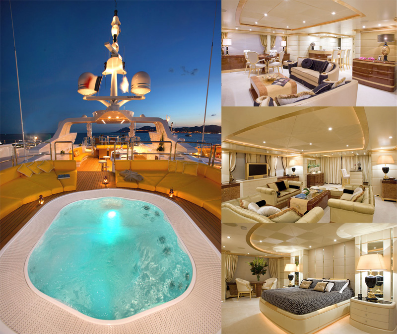 motor yacht Platinum swimming pool