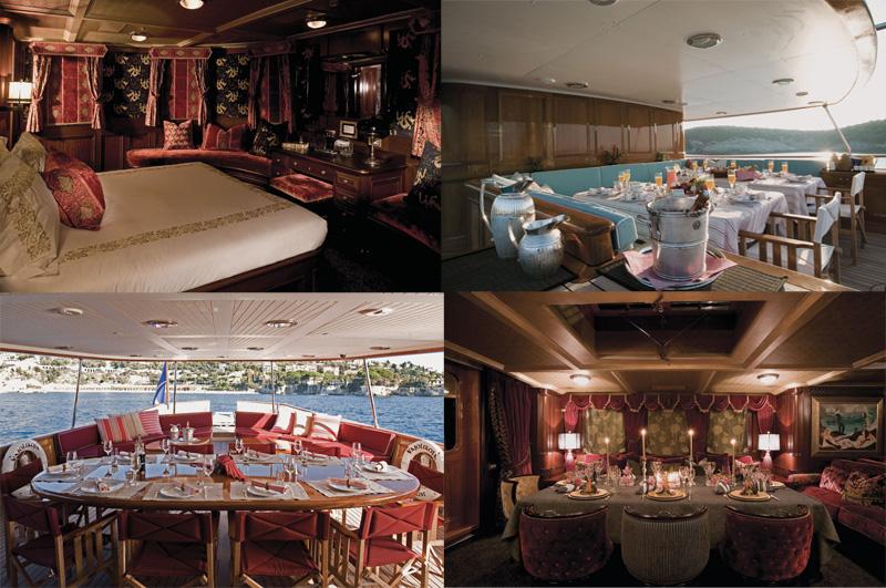 Motor yacht Vajoliroja main cabin