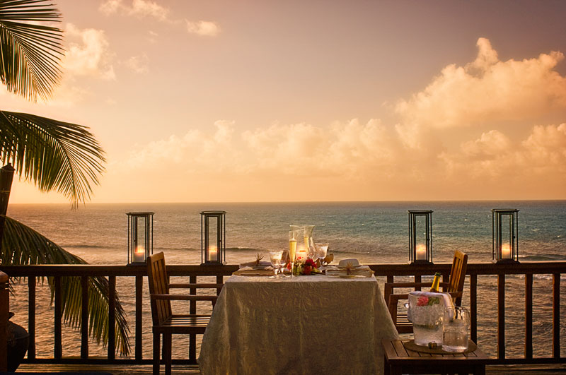 Necker Island Bali cliff dinner