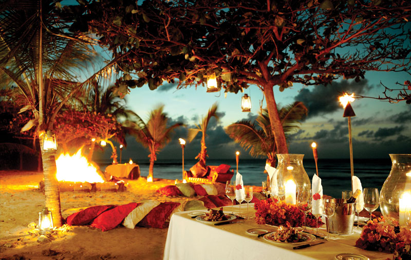 Necker Island beach BBQ