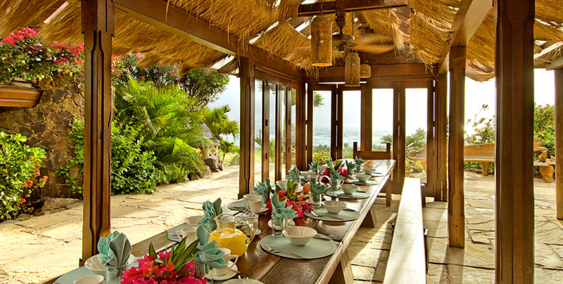 Necker Island breakfast