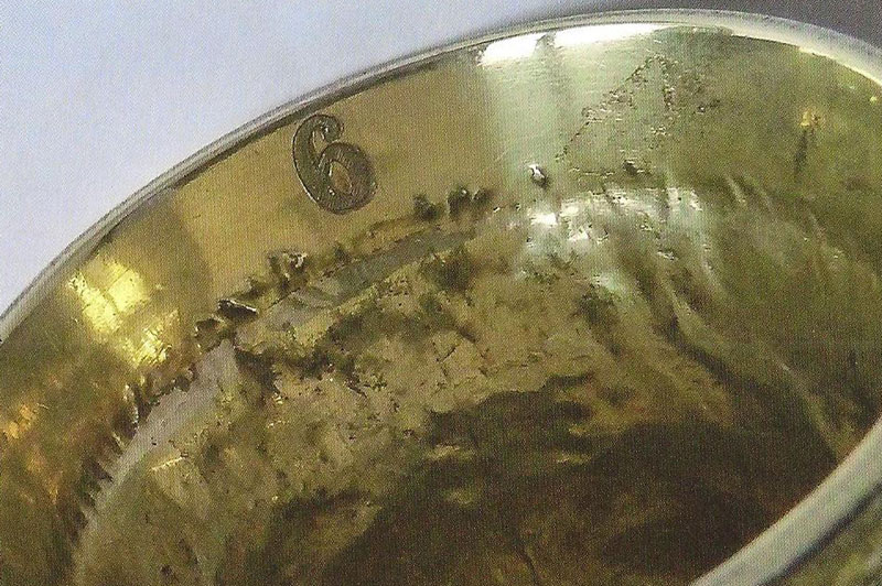 Number on Hound Head Silver Gilt Stirrup Cup