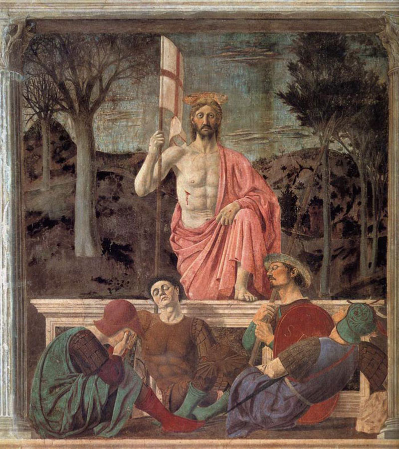 Resurrection fresco by Piero della Francesca