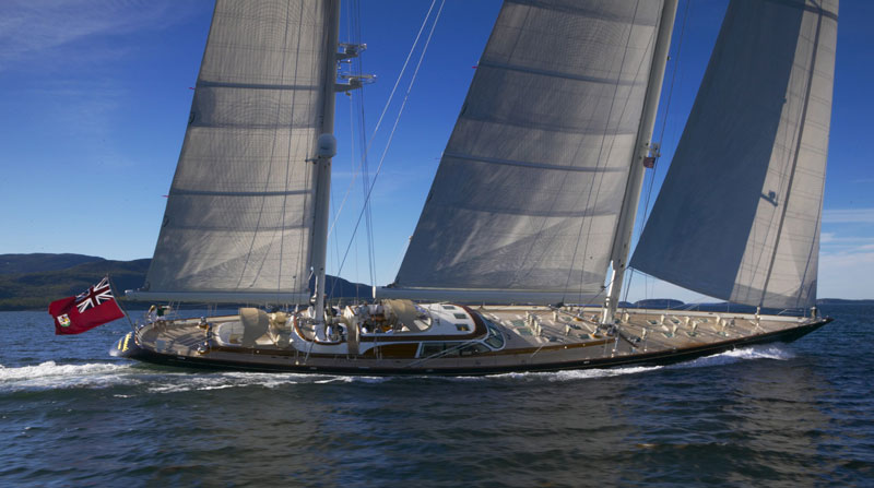 Sailing Yacht Scheherazade, running