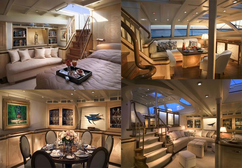 Sailing yacht Schehreazade maincabin