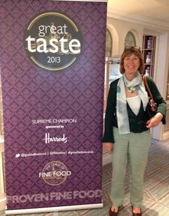 Sarah Willes of Blues Agency at Great Taste Awards