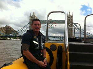 Steve hands on duty during the Olympics 2012 in London