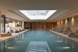 Swimming pool at Limewood health spa